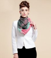 Wholesale Soft voile Infinity Scarf Womens scarves Neck Scarf Fashion Wrap striped Muffler colors Size cm