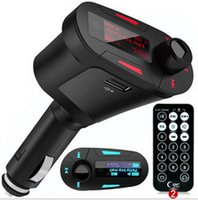 Wholesale Car Kit MP3 Music Player Wireless FM Transmitter Radio Modulator With USB SD MMC Remote Control DHL