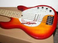 bass outlets - Luxury strings bass music stingRay electric bass guitar with V Battery active pickups Factory Outlet