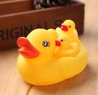 toy duck calls - 4pcs set mini yellow floating small rubber plastic duck baby bath water children summer toy play call for kid bathroom