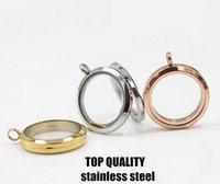 Cheap Stainless steel Floating locket Best 18K Round floating lockets