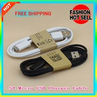 Wholesale 30pcs Micro USB Charger Cable Sync Data Charging Adapter Lead Cord For Samsung Galaxy S4 S3 N7100 Blackberry HTC cell phones Universal
