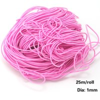 elastic cord jewelry - 20bundls approx mts DIY Cord Wire Diameter mm Colors Elastic Cord Stretch String Thread Wire For Jewelry DIY Making DH FXC001