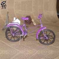 Wholesale Toys Gifts Creative manual metal crafts mini bike DIY model articles models manually bicycle creative home tourism handicraft