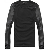 leather shirt - The New Autumn Mens Basic PU Leather Long Sleeve Shirt Slim Fit Non decorate Solid Color Shirt
