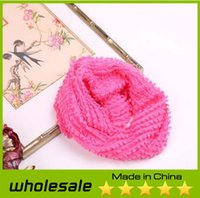 Wholesale 2014 New Fashion Women Winter Warm Knit Neck Circle Scarf Shawl Knitting Ladies Infinity Scarf