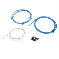 Wholesale MTB Mountain Road Bike Bicycle Brake Cable Derailleur Line Pipe Shifter Brake Cable Set Wire Kit White Blue Black