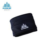 Wholesale 2016 AONIJIE Yoga Pockets Marathon Running Free Running Waist Mag Waterproof Nylon Men Women Waist Packs Running Size S XL Black