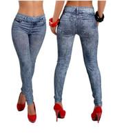 american apparel black leggings - New Women Sexy Tattoo Jean Look denim Leggings nightclubs Sport Leggins Punk Fitness American Apparel Jeans Woman Pants