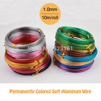 aluminum wire gauge - mm gauge multi colors anadized aluminum wire coil m roll soft DIY jewelry craft versatile painted aluminium metal wire