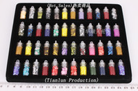 Wholesale Bottles Nail Art Sequined Decoration Sticker Mixed Design Case Set Women Girl Gift With Display Box