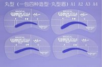 Wholesale pencil picture A Styles Brow Painted Eyebrow Pencil Stencils Model Template Stencil for Eye Eyebrow