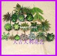 Wholesale Simulation succulents plants fake green interior living room Decoration plastic mini flower head Succulents Cactus