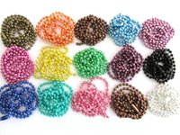 asian crafts - 15 Colored choose mm inches Connectors Included Ball Chains Necklaces For Locket Crafting Jewelry Drop Shipping
