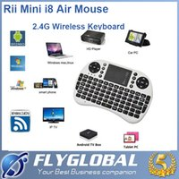 Wholesale Wireless Keyboard Rii Mini i8 Air Mouse Multi Media Remote Control Touchpad Handheld for TV BOX Android Smart TV Box HTPC UG007 J22 Mini PC