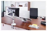 aluminum laptop table - Laptop Stand Adjustable Inch Desktop Computer Monitor Stand Aluminum Alloy Rotating Laptop Table Universal Lazy Lapdesks