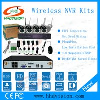 Wholesale HHDVISION Wifi IP Camera System Kit CH NVR Wireless Camera Standalone System CH NVR Wireless Wired IP Camera P Security Camera Kit