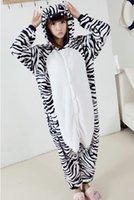 adult onesies - 2015 Zebra Flannel Pyjama Cartoon Cosplay Winter Warm Loungewear Adult Homewear Cute Onesies Animal Pajamas cosplay
