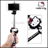 Wholesale Mini Portable Fashion Handheld Monopod bluetooth Remote Control Tripod mount
