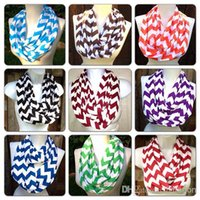 Wholesale top sale High quality Wave Chevron Infinity Scarf Women and Teens Circle Loop scarf circle ring scarf Loop scarf