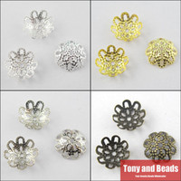 filigree jewelry findings - Jewelry Finding MM Flower Filigree End Beads Caps Gold Silver Bronze Nickel Plated No BC2
