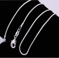 Wholesale 925 Silver Plated Snake Chain Necklace mm inch Factory Price