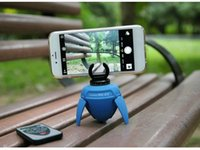 Wholesale Panoramic head lapse photography degrees for the phone Self shelf electric mini Bluetooth Remote Control Lazy Phone Holder Bracket icana