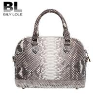 authentic python handbags - Authentic Bl Brand Luxury Python skin genuine leather women s High quality handbag casual fashion female messenger bag