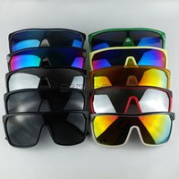 Wholesale 12pcs Sports Sunglasses Cycling Goggles Sun Glasses For Mens Sunglasses Colorful Mirror Lenses More Colors With LOGO