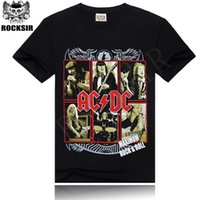 ac rock band - 2015 AC DC Heavy Metal Music Cool Classic Rock Band Shirts Fashion Rocksir T Shirt Men D T Shirt Tshirt Men s Shirt all size