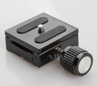 Cheap 10pcs PU50 dslr camera tripod monopod head with quick release plate 50mm for 60d 70d 700d 650d d5100 d3300 d7000 d90 accessories