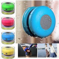Wholesale Mini Waterproof Dustproof Speaker Wireless Bluetooth Shower Car Handsfree MIC Shower Suction Cup Speakers for iPhone Tablet Galaxy Note Car