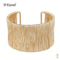 achat en gros de bracelets d'or inde-Exagérée Inde Fashion Bijoux Bracelets en acier de fil de fer pour les femmes Bracelets en or Bracelets de bracelets de brassard à la main de marque de conception de marque BL153160