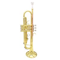 Wholesale Top Grade Exquisite Trumpet Bb B Flat Brass Trumpet Phosphor Copper with Mouthpiece Cleaning Brush Glove Strap order lt no track