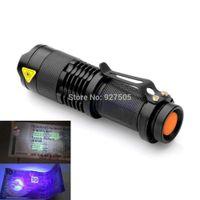 Cheap B39 2015 newest Mini Portable UV Ultra LED Flashlight Violet Purple Blacklight Torch Lamp Light free shipping