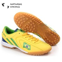 artificial increase - Soccer Shoes Indoor Men Training Shoes Elastic Bottom Country Flag Football Shoes Breathable Artificial Shoes For Man