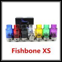 glass fish tank - Colorful Fishbone XS V2 RDA Glass Tank mm Rebuildable Dripping Atomizer DIY Ecigarette Huge Vapor Fish Bone V3 RDA Clone Mod