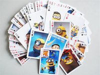 Wholesale party decoration Animation poker Despicable Me Minions poker cards Minions the surrounding poker cartoon toys for Christmas