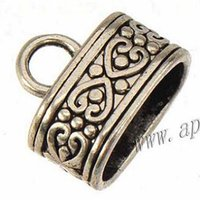 Wholesale end caps for jewelry leather bracelets antique silver large hole new diy fashion jewelry findings and accessories bead caps mm