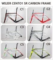 Wholesale Wilier Cento1 SR Carbon Road Bike Frame Fork Headset seatpost Wilier Zero color lightweight road bike carbon frame look time rxrs R5