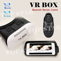 Wholesale 2015 Google Cardboard VR BOX Version VR Virtual Reality D Glasses Bluetooth Remote Control Gamepad