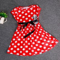 Wholesale fast choose size cm red minnie skirt cotton cartoon minnie mouse clothing minnie dress kids clothing Children s Dresses