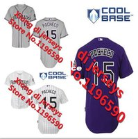 jordan size 15 - 30 Teams Jordan Pacheco Colorado Rockies Baseball jerseys More color embroidered various styles size S XL