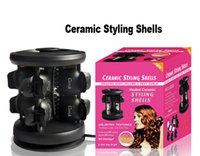 China hair salon equipment - Brand New Solid Ceramic Tourmaline Styling Shells Magic Hair Curler pro Salon Equipment Salon ceramic styling shells V V DHL Free Ship