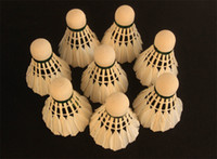 goose feathers - Badminton Shuttlecocks Feather Badminton Pieces Pack Resistant Fight Barrel Foam Ball Head Sport White Duck Curved Hair Training Outdoor