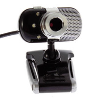 Wholesale NewUSB CMOS Sensor LED HD Webcam Video Web Cam Camera MP Megapixel with MIC For PC Laptop notebook Hot Selling