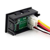 Wholesale 1pcs Best Selling Red Blue LED DC V A Dual Digital Voltmeter Ammeter Current Meter Panel Amp Volt Gauge Hot Worldwide