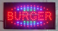 Wholesale 2015 super brightly customized led light signs led Burger signs neon led Burger signs Burger led indoor