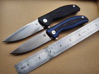 Wholesale Shirogorov F3 ball bearing Flipper folding Knife D2 blade G10 steel handle A variety of camping hunting outdoors survival knife MULTI tool