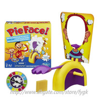 Wholesale 2016 new Korea Running Man Pie Face Game Pie Face Cream On Her Face Hit The Send Machine Paternity Toy Rocket Catapult Game Consoles
